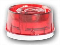 Sirena/lampeggiatore bianca lente rossa con isolatore
