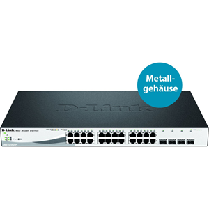 Ethernet Switch D-Link WebSmart DGS-1210-28P 24 Porte Gestibile - 2 Layer Supported - Desktop, Rack-Montabile