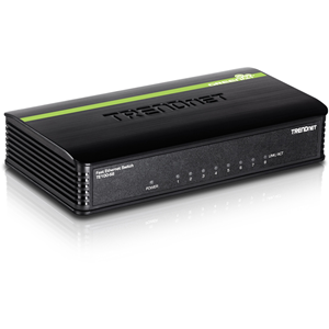 Ethernet Switch TRENDnet TE-100S8 8 Porte - 8 x Fast ethernet Rete - 2 Layer Supported - 5 Anno/i Limited Warranty