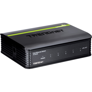 Ethernet Switch TRENDnet TE100-S5 5 Porte - 5 x Fast ethernet Rete - 2 Layer Supported - 5 Anno/i Limited Warranty