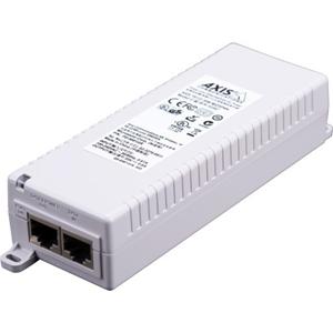 Iniettore PoE AXIS T8133 - 120 V AC, 230 V AC Ingresso - 1 10/100Base-TX Input Port(s) - 1 10/100Base-TX Output Port(s) - 30 W - Installabile su parete/ripiano/barra DIN
