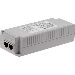 Iniettore PoE AXIS T8134 - 110 V AC, 230 V AC Ingresso - 55 V DC Uscita - 10/100/1000Base-T Input Port(s) - 10/100/1000Base-T Output Port(s) - 60 W - Installabile su parete/ripiano/barra DIN