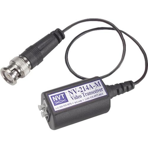 Trasmettitore/Ricevitore per estensore video NVT NV-214A-M - Cavo - 1 Input Device - 1 km Range - Coassiale