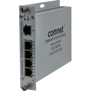 Ethernet Switch ComNet CNFE5SMS 5 Porte - 2 Layer Supported - Parato montabile, Rack-Montabile, Montabile su rail
