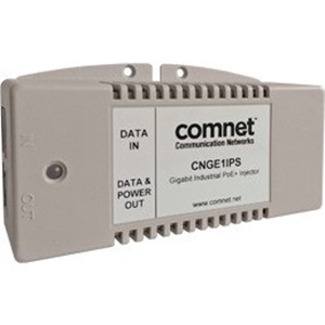 Iniettore PoE ComNet CNGE1IPS - 56 V DC, 625 mA Uscita - 1 10/100/1000Base-T Input Port(s) - 1 10/100/1000Base-T Output Port(s) - 30 W - DIN Rail/Montaggio a muro