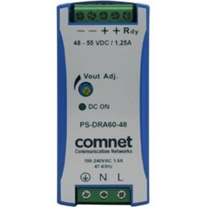 Alimentatore proprietario ComNet PS-DRA60-48A - 89% - 48 V DC Output Voltage - Rail DIN