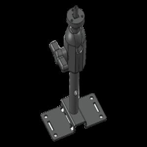 Staffa montaggio Honeywell per Telecamera di rete - 11,34 kg Capacità di carico - Nero