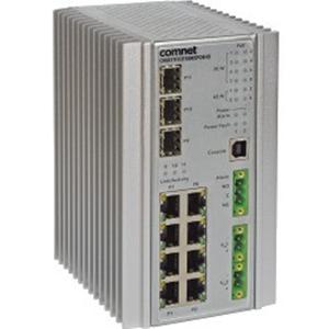 Ethernet Switch ComNet CNGE11FX3TX8MS 8 Porte Gestibile - 8 x Gigabit Ethernet Rete, 1 x Gigabit Ethernet Slot Espansione, 2 x 2.5 Gigabit Ethernet Slot Espansione - Modular - Coppia incrociata, Fibra ottica - 2 Layer Supported - Parato montabile, Montaggio su guida DIN - A vita Limited Warranty