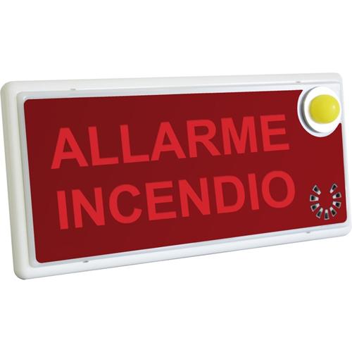 Cartello di informazioni Cooper - impermeabile, Luce LED, Lampeggiante, Acoustic - Termoplastica - Bianco