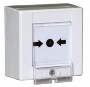 Avvisatore manuale rottura vetro bianco