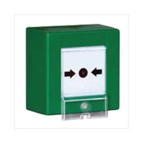 Avvisatore manuale rottura vetro verde