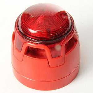 Sirena/lampegg. convenz. rossa LED rosso Open Area