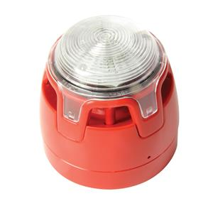 Sirena/lampegg convenz. rosso LED rosso