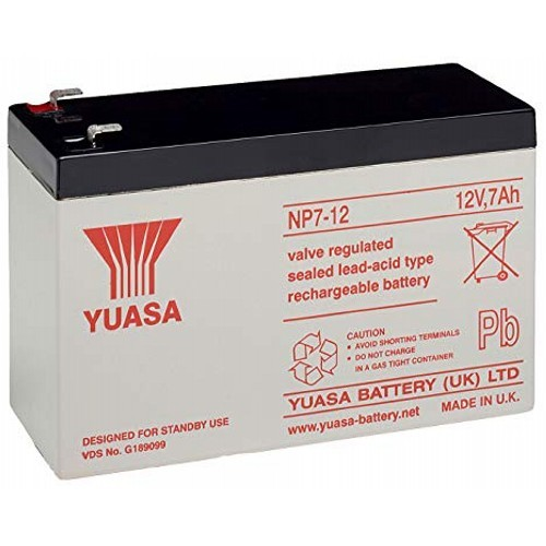 Batteria Yuasa NP7-12 - 7000 mAh - Piombo acido sigillati - 12 V DC - Batteria ricaricabile
