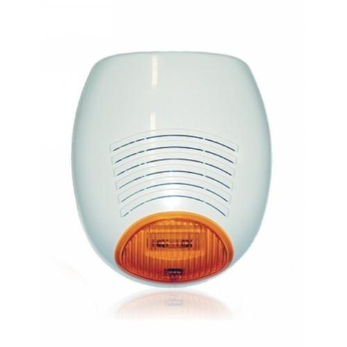 Sirena/Luce stroboscopica AMC - Cavo - 13,8 V DC - 100 dB - Udibile, Visual - Arancione, Bianco, Bianco